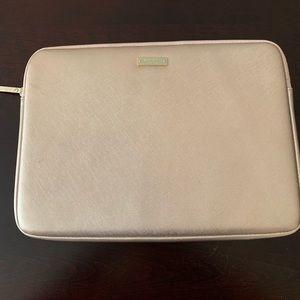 """Kate Spade 13"""" rose gold laptop case"""